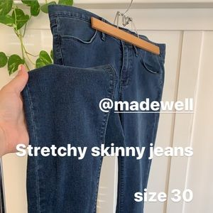 Madewell Stretchy Skinny Jeans Mid-rise size 30